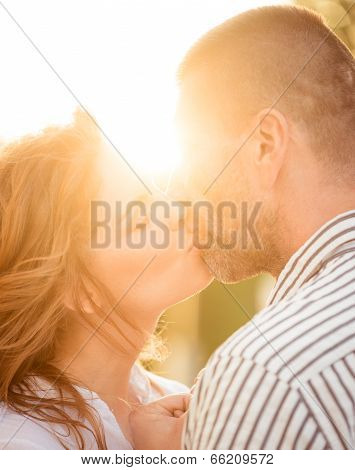 Couple in love - kiss