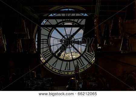 Clock At Musee D'orsay In Paris