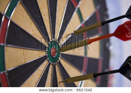Target on Darts Board