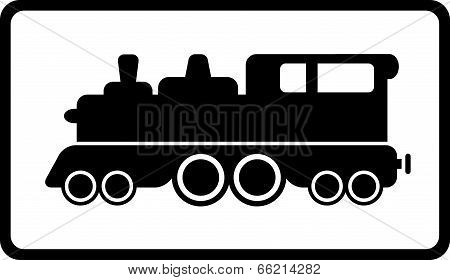 isolated black train