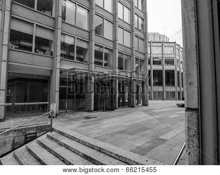 Black And White Economist Building In London