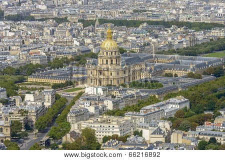 Aerial View Of Les Invalides Taken From Montparnasse Tower