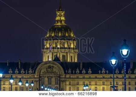 Les Invalides At Night