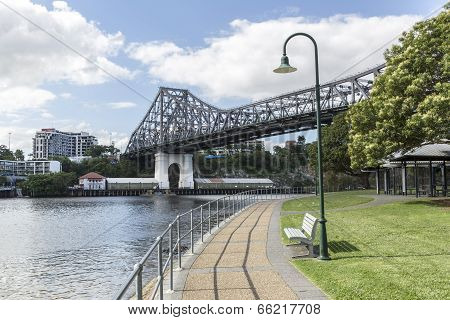 Brisbane Story Bridge from Captain Burke Park