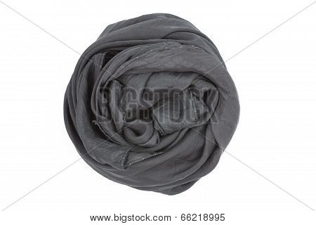 A taupe silk scarf associated rose