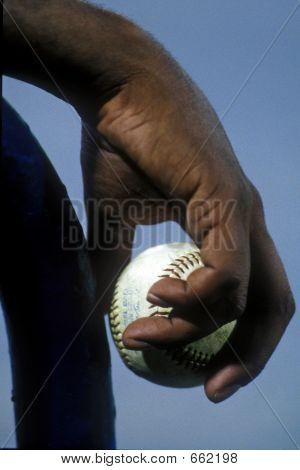 Black Hand With Baseball