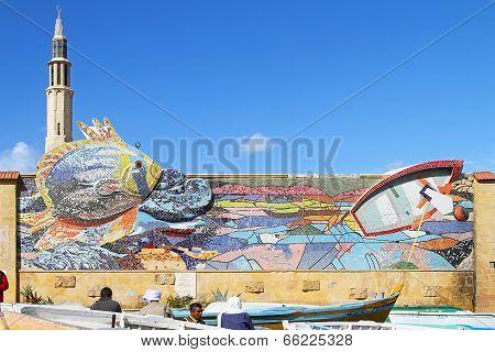 Alexandria Mosaic Wall