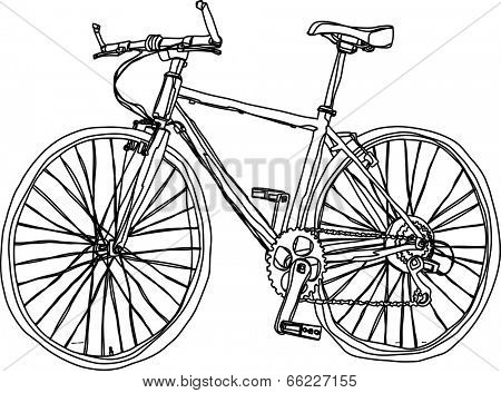 The view of bicycle