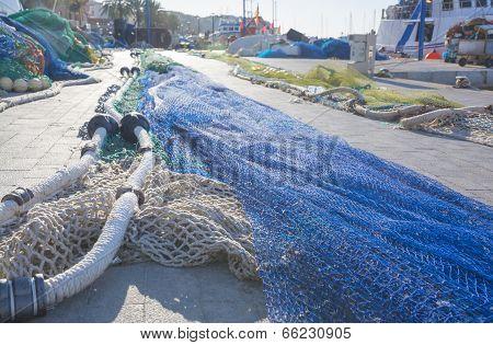 Fishnet on pier