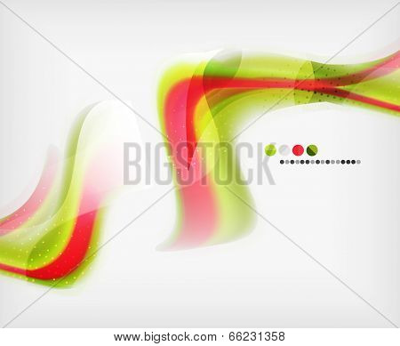 Abstract Blurred Waves In The Air - Business Brochure Template