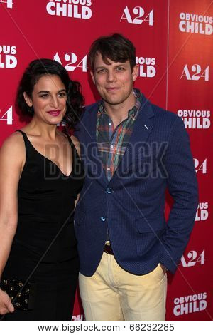 LOS ANGELES - JUN 5:  Jenny Slate, Jake Lacy at the