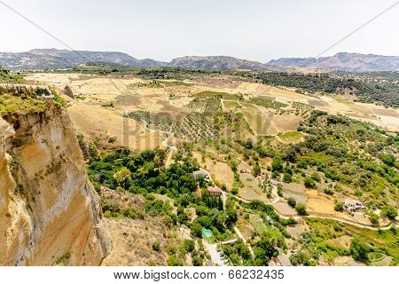 Ronda Gorge And View To Mountains
