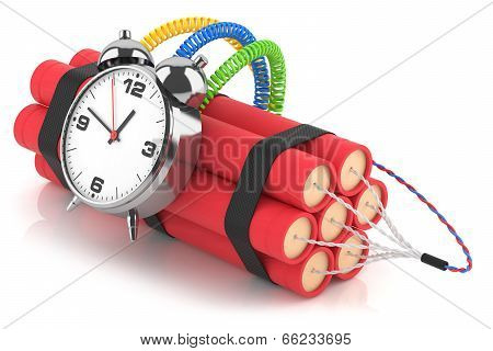 Time Bomb Isolated On White Background. 3D