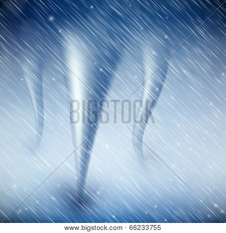 Natural Background With Tornado
