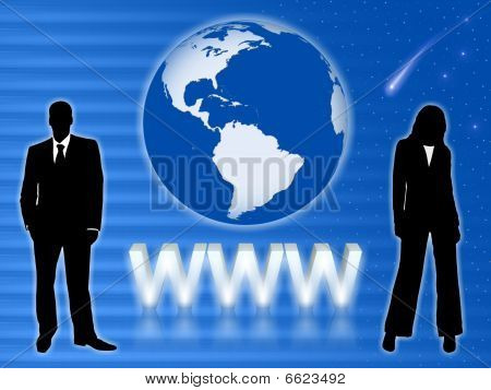 Business people. Internet WWW Concept.