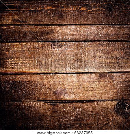 Dark Wood Texture. Grunge Wooden Background. Old Wood Textured Table, Horizontal Planks