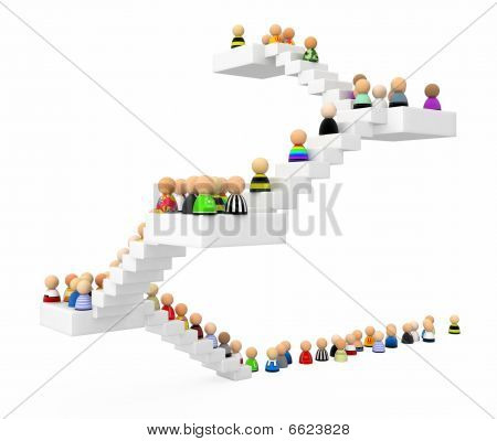 Cartoon Crowd, Staircase