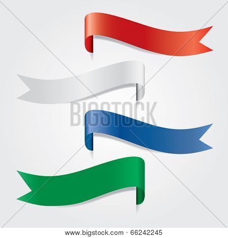 four vector color banners