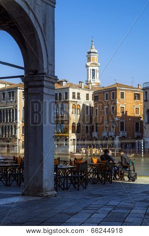 Venetian cafe by the Grand Canal