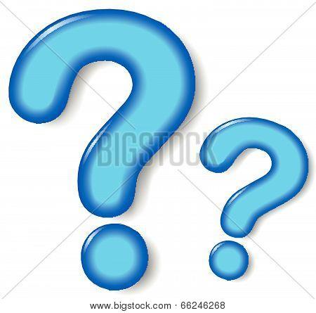 Vector Blue Question Mark