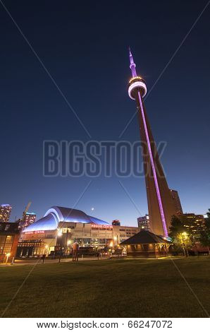 Cn Tower And Rogers Centre - Toronto, Canada - May 31, 2014