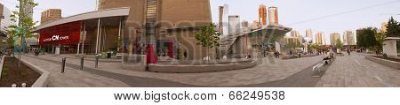 Cn Tower Entrance Panorama - Toronto, Canada - May 31, 2014