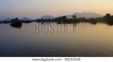 View Of The Mekong River At Sunset - Don Det