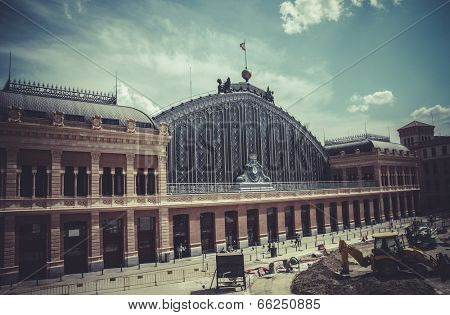 Atocha train station, Image of the city of Madrid, its characteristic architecture