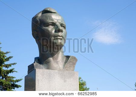 Yuri Gagarin Monument. Horizontal Frame.