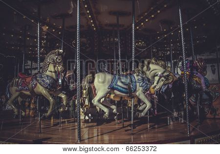 carousel, marry-go-round, Image of the city of Madrid, its characteristic architecture