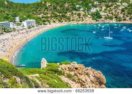 Ibiza Cala De Sant Vicent Caleta De San Vicente Beach Turquoise Water