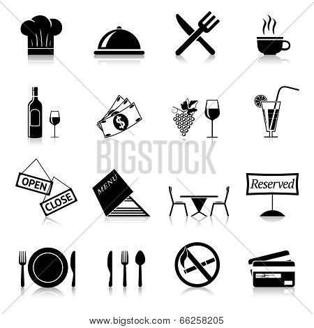 Restaurant Icons Black