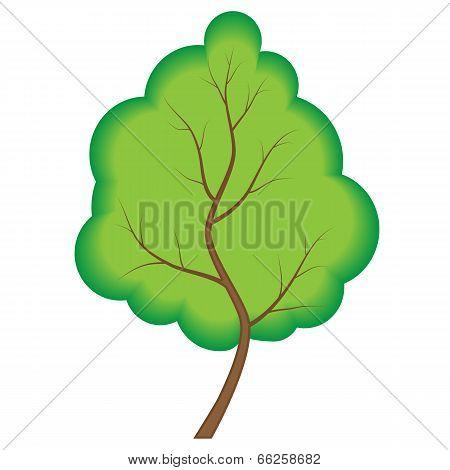 Abstract Green Tree