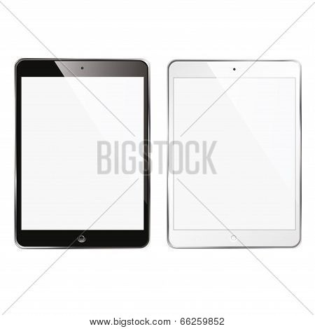 computer tablet phone black and white