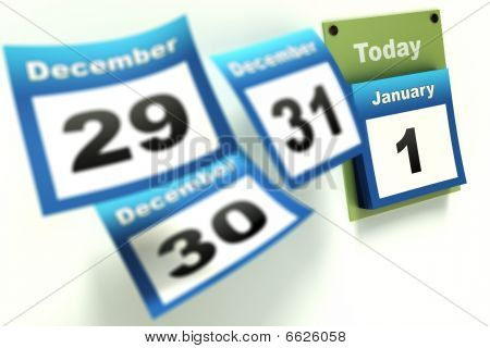 Calendar New Year countdown