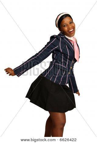 Smiling African American School Girl