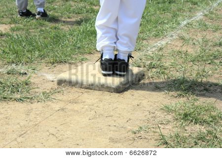 Baseball Standing On Base