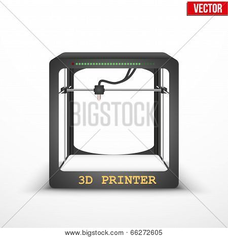 Electronic three dimensional plastic 3D printer.
