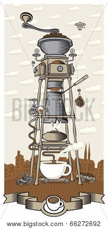 Coffee mill town