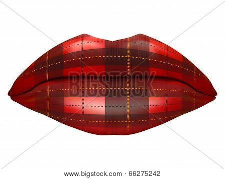 Beautiful luscious lips. Vintage textures
