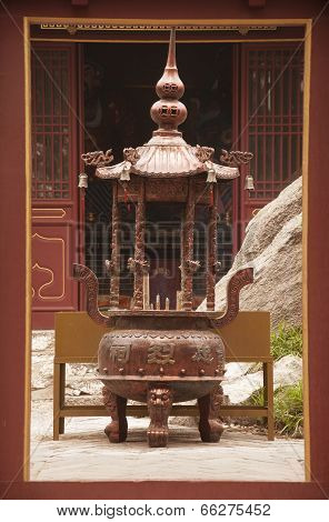 Incense Burner At A Buddhist Temple