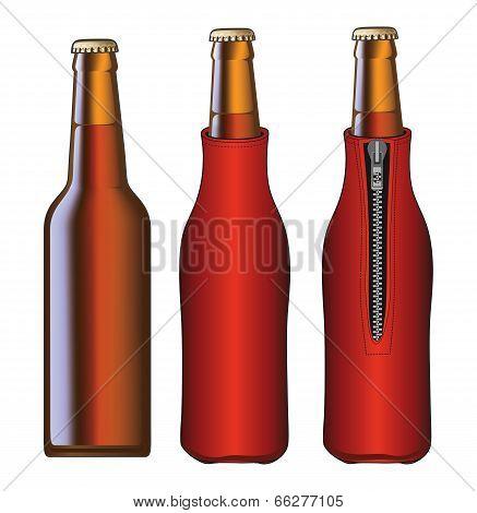 Beer Bottle With Koozie