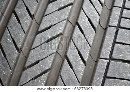Tire tread close-up