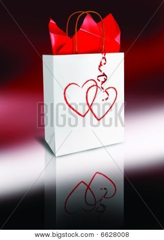 Valentines Day Shopping Gift Bag