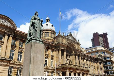 Statue and Council House, Birmingham.