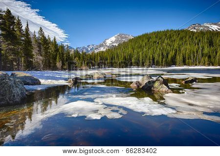 Bear Lake at the Rocky Mountain National Park, Colorado, USA