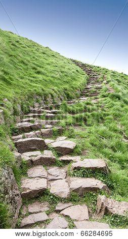 Edinburgh Arthur's Seat stone path