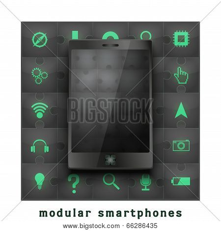 Concept of Modular smartphone.