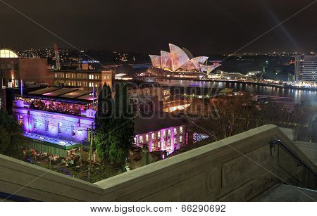 Sydney Harbour And The Rocks By Night