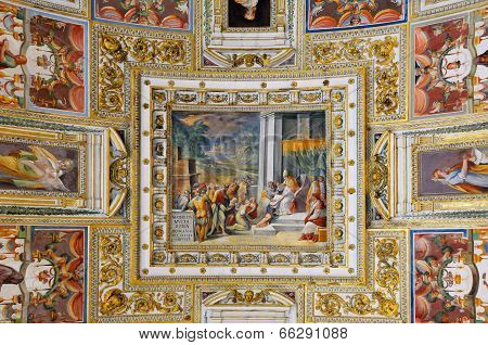 Gallery Ceiling In Vatican Museum